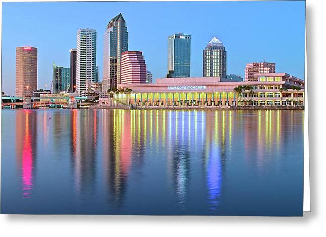 Tampa Bay Aglow 2016 Greeting Card by Frozen in Time Fine Art Photography