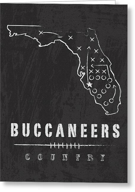 Tampa Bay Buccaneers Art - Nfl Football Wall Print Greeting Card by Damon Gray