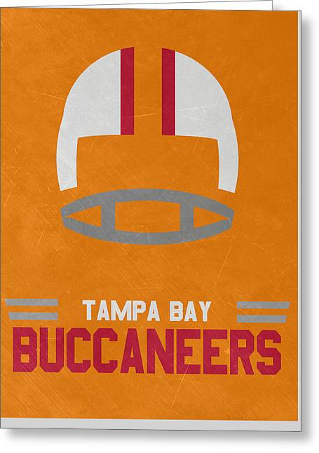 Tampa Bay Buccaneers Vintage Art Greeting Card