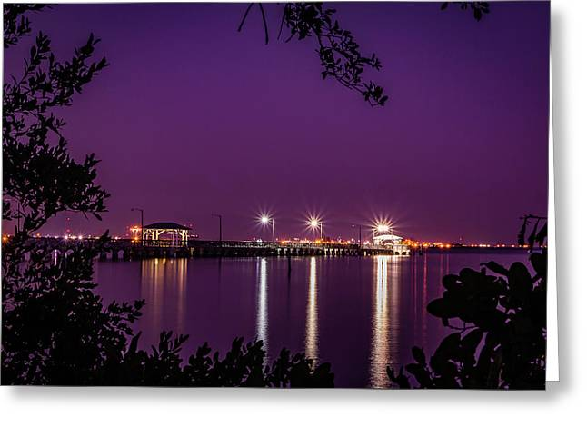 Tampa Bay Fishing Pier Greeting Card