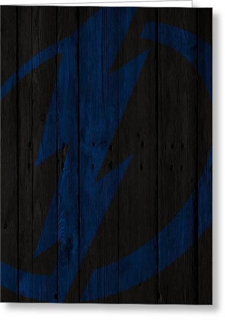 Tampa Bay Lightning Wood Fence Greeting Card