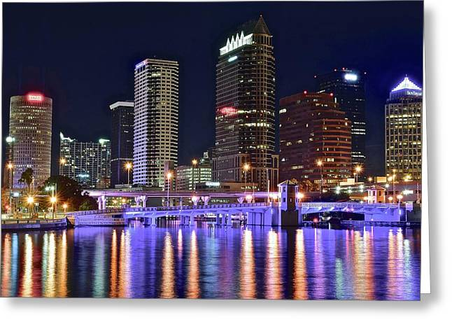 Tampa Bay Nightscape Greeting Card