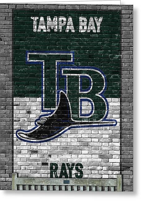 Tampa Bay Rays Brick Wall Greeting Card