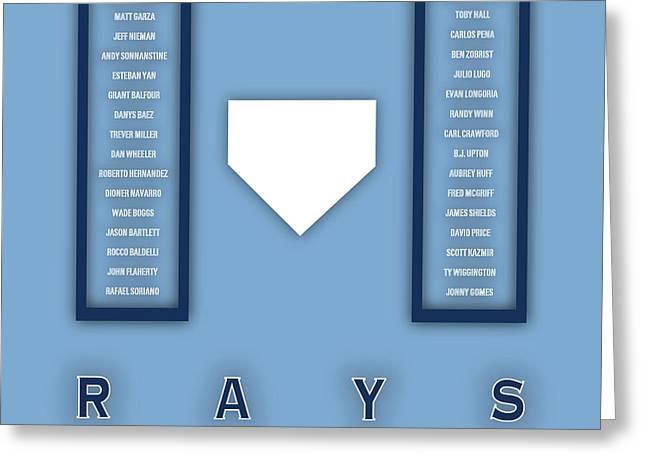 Tampa Bay Rays Art - Mlb Baseball Wall Print Greeting Card by Damon Gray