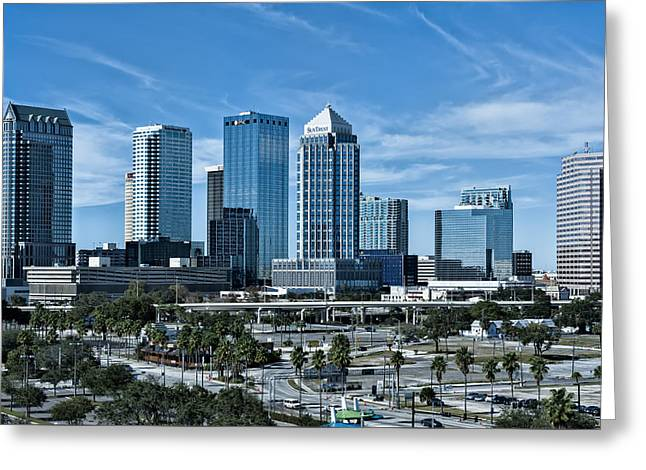 Greeting Card featuring the photograph Tampa Bay Skyline by Linda Constant