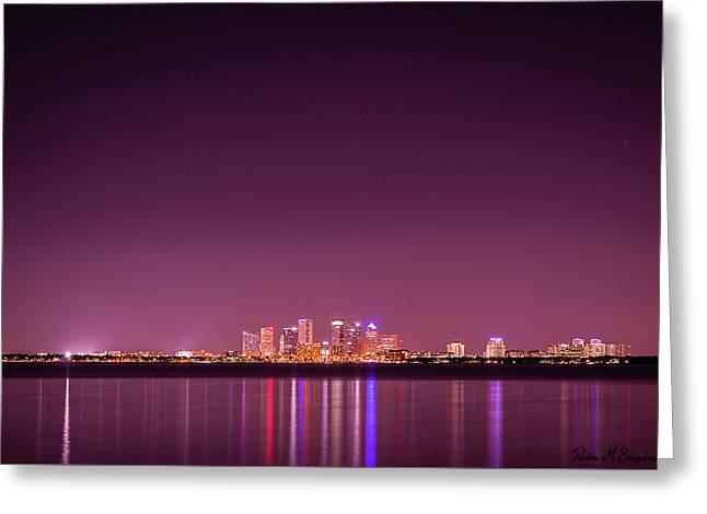 Tampa Bay Skyline Greeting Card