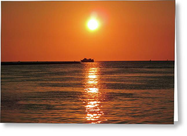 Tampa Bay Sunset 3 Greeting Card by Marilyn Hunt