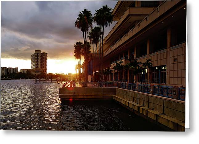 Tampa Bay Sunset Greeting Card by Drew Coffman