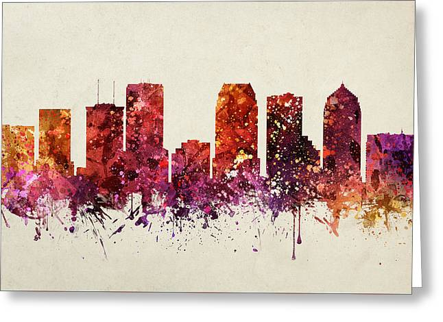 Tampa Cityscape 09 Greeting Card