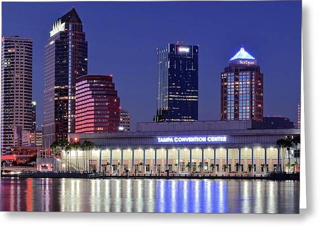 Tampa Convention Center Greeting Card by Frozen in Time Fine Art Photography