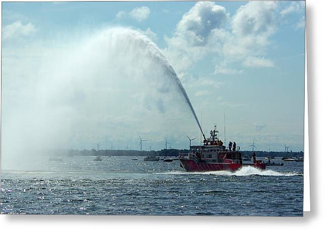Tampa Fire Rescue Boat Greeting Card by Paul Wash
