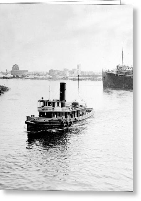 Historic Ship Greeting Cards - Tampa Florida - Harbor - c 1926 Greeting Card by International  Images