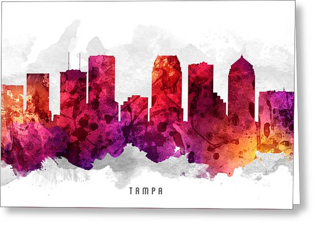 Tampa Florida Cityscape 14 Greeting Card by Aged Pixel