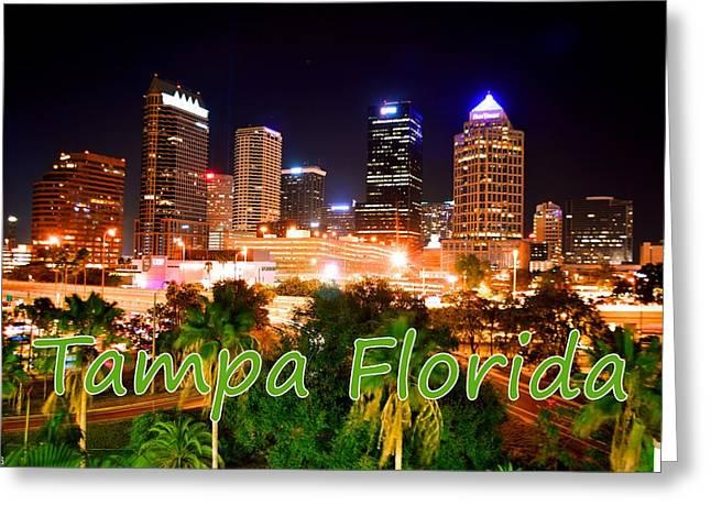 Tampa Florida Greeting Card by Lisa Wooten
