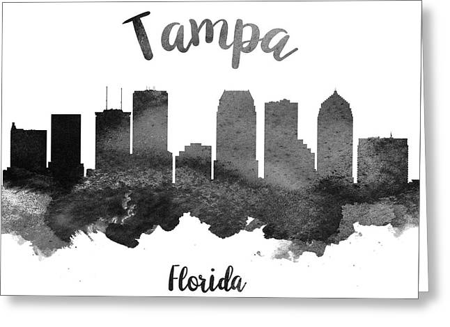 Tampa Florida Skyline 18 Greeting Card by Aged Pixel