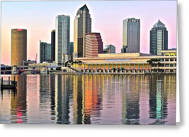 Tampa In Vivid Color Greeting Card by Frozen in Time Fine Art Photography