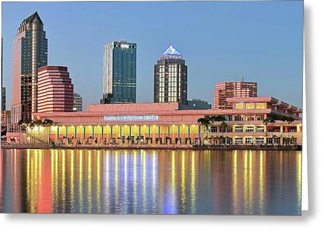 Tampa Panoramic View Greeting Card by Frozen in Time Fine Art Photography