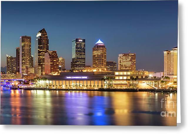 Tampa Skyline Greeting Card by Brian Jannsen