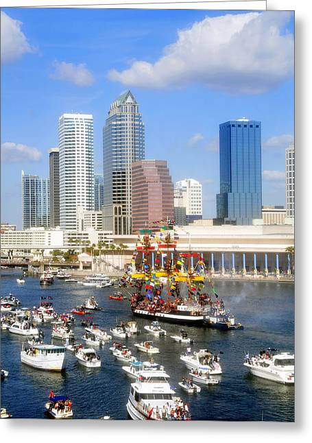 Tampa's Flag Ship Greeting Card