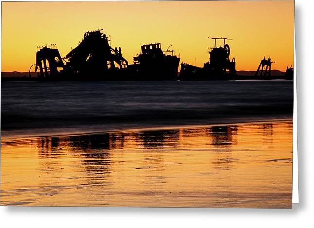 Tangalooma Wrecks Sunset Silhouette Greeting Card