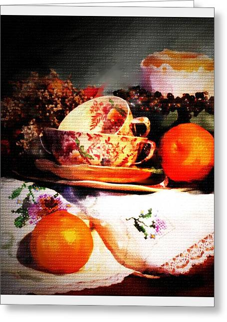Tangerine Greeting Card by Ken Barker