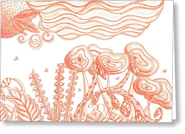 Tangerine Haze Greeting Card by Kitty Perkins
