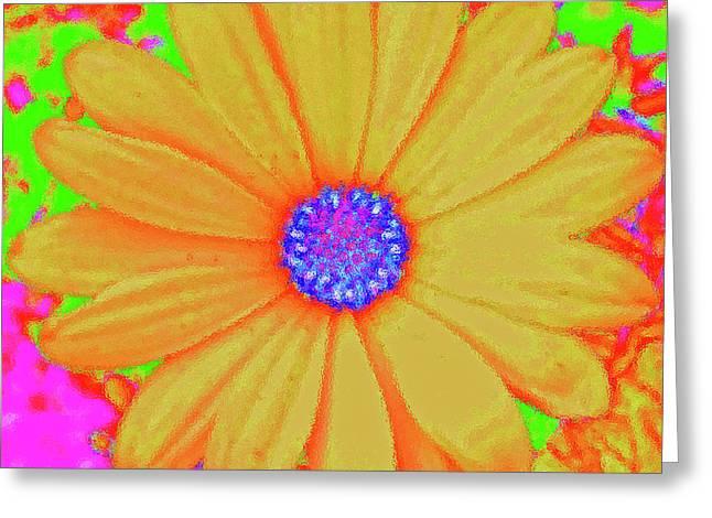Tangerine Sunshine Greeting Card by Ann Johndro-Collins