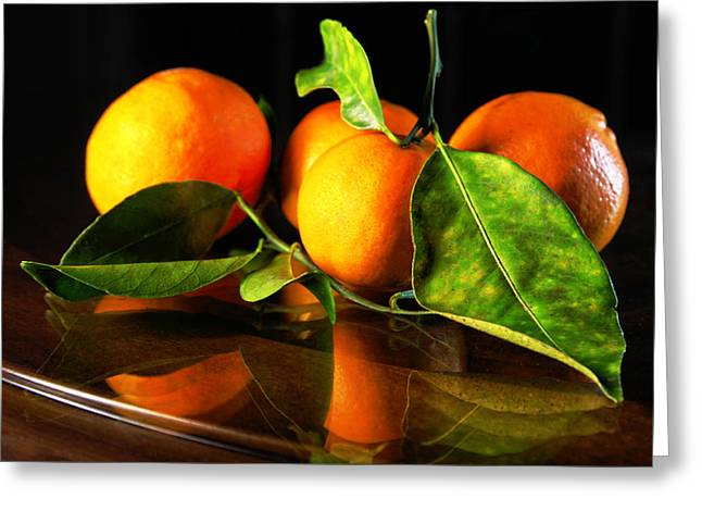 Tangerines Greeting Card by Robert Och