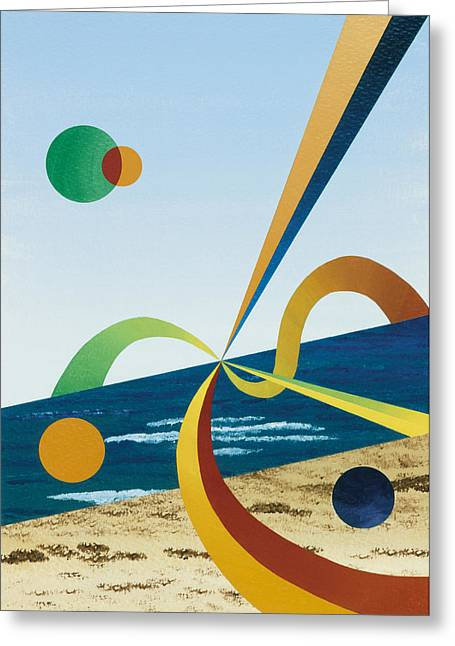 Tangers  Greeting Card by Eliot LeBow
