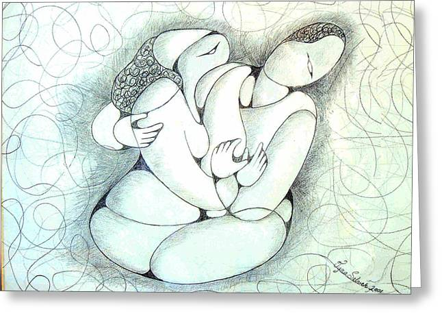 Tangled Emotion Greeting Card by Tyna Silver