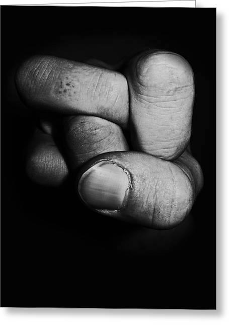 Tangled Fist Greeting Card by Nicklas Gustafsson