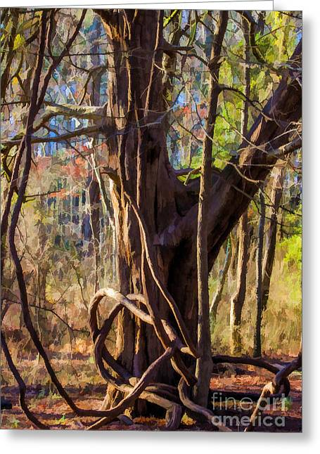 Tangled Vines On Tree Greeting Card