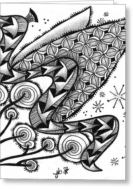 Tangled Serpent Greeting Card