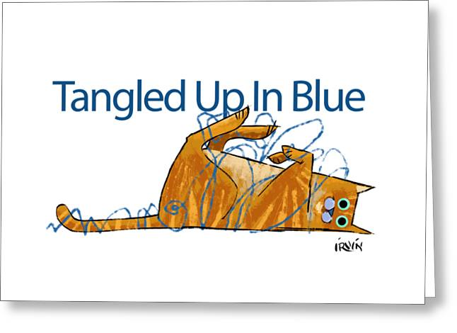 Tangled Up In Blue Greeting Card