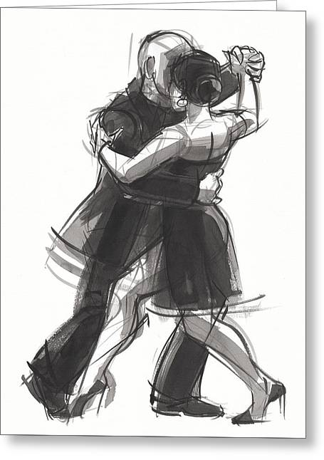 Greeting Card featuring the painting Tango 8 by Judith Kunzle