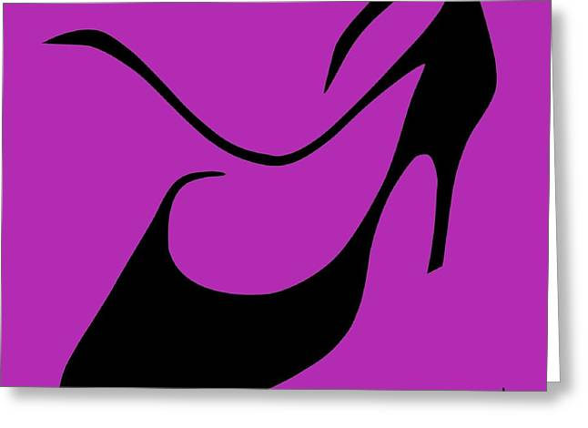 Foot-step Greeting Cards - Tango Argentino Woman Shoe - Milonga Buenos Aires Argentina Greeting Card by Arte Venezia
