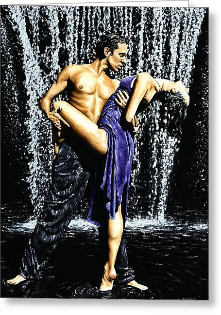 Tango Cascade Greeting Card by Richard Young