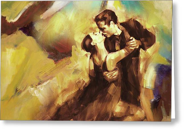 Tango Couple Dance 07 Greeting Card by Gull G
