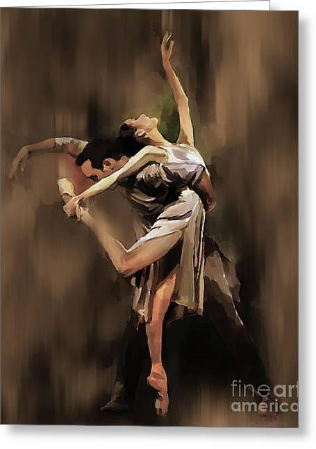 Tango Dance 9901 Greeting Card by Gull G