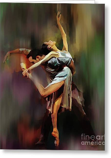 Tango Dance 9910 Greeting Card by Gull G