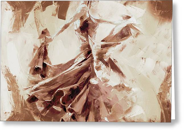 Greeting Card featuring the painting Tango Dance 9910j by Gull G