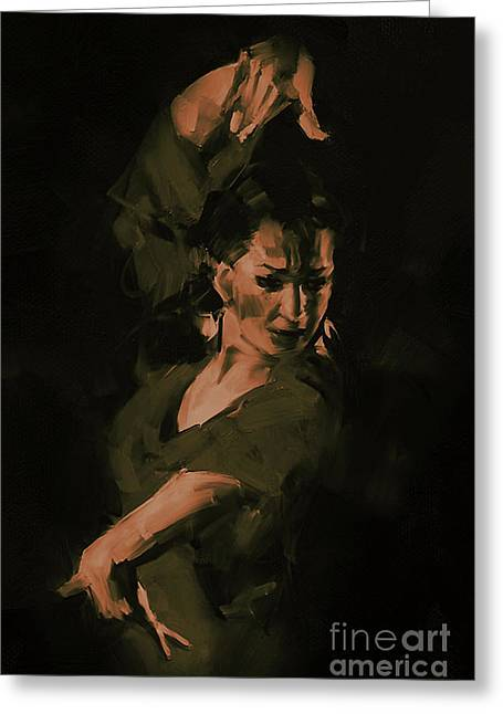 Tango Dance Style 01 Greeting Card by Gull G