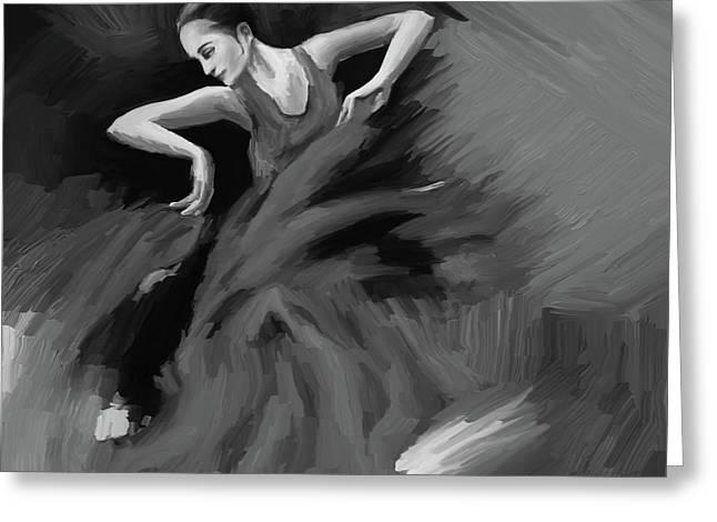 Tango Dancer 032 Greeting Card by Gull G