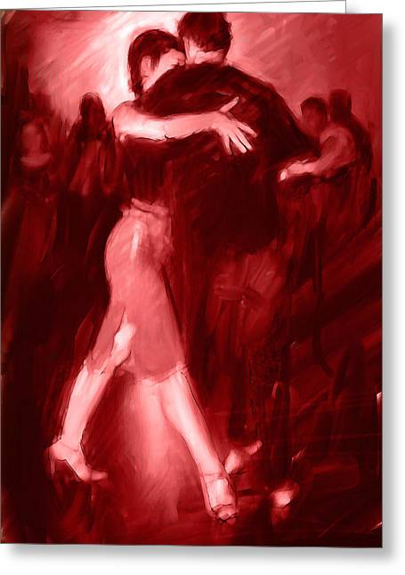Tango In Red Greeting Card by H James Hoff