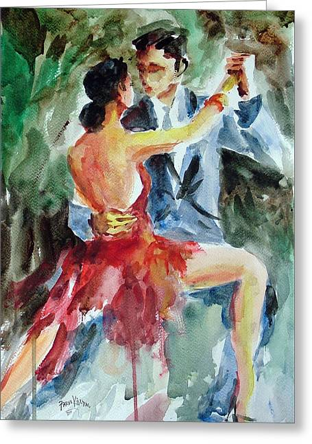 Tango In The Night Greeting Card