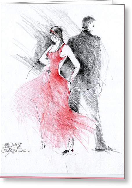 Tango Greeting Card by Natalia Eremeyeva Duarte