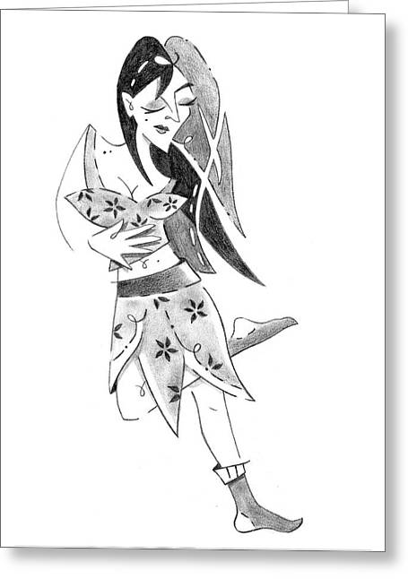 Tango Nuevo - Woman Step Colgada Greeting Card