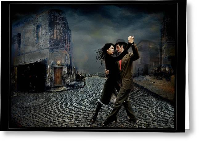 Buenos Aires Art Greeting Cards - Tango Portuario Greeting Card by Raul Villalba