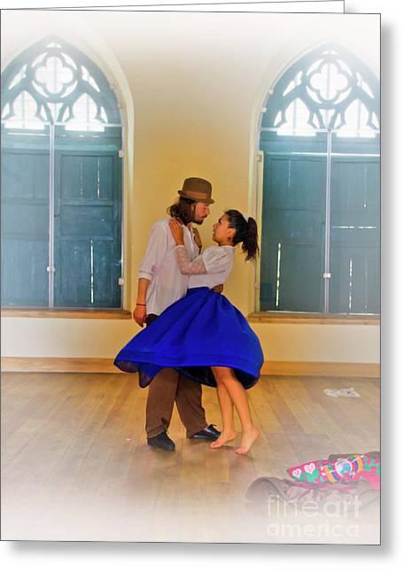 Tango Practice Greeting Card by Al Bourassa