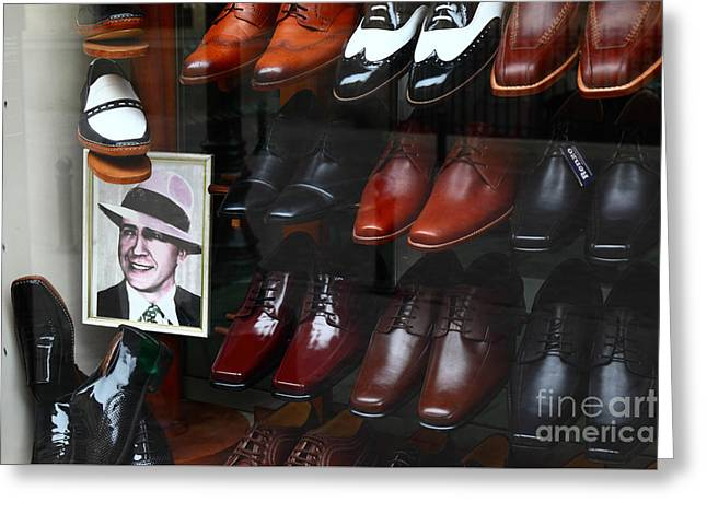 Tango Shoes For Carlos Gardel Greeting Card by James Brunker